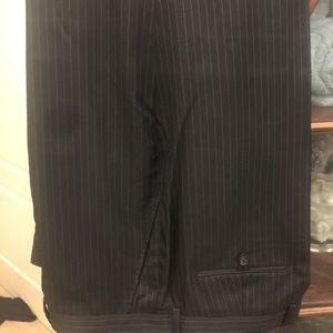 Dark Grey Pinstripe Dress Pants, 38x30